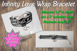 Brain Cancer Awareness Infinity Love Wrap Bracelet