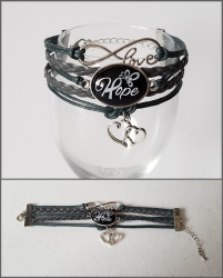 '.Brain Cancer Infinity Bracelet.'