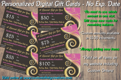 Personalized Digital Gift Cards - No Expiration Date