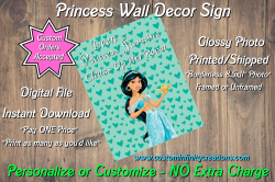 Aladdin Even Princess Jasmine Cleans Up Her Room Princess Wall Decor Sign