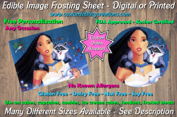 Pocahontas Edible Image Frosting Sheet #2 Cake Cupcake Topper