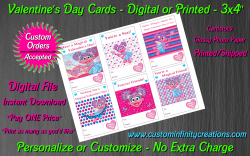 Abby Cadabby Digital or Printed Valentines Day Cards 3x4 Sheet #2
