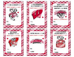 '.WI Badgers Valentines #1.'