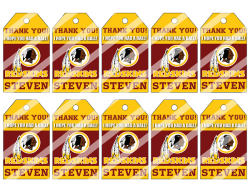 '.Redskins #10 Thank You Tags.'