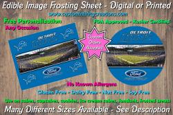 Detroit Lions Football Edible Image Frosting Sheet #12 Cake Cupcake Topper