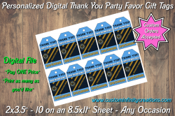 Philadelphia Union Soccer Digital Thank You Party Favor Gift Tags #2