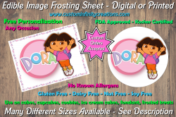Dora the Explorer Edible Image Frosting Sheet #14 Cake Cupcake Topper