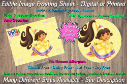 Dora the Explorer Edible Image Frosting Sheet #10 Cake Cupcake Topper