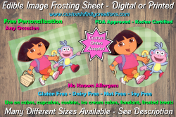 Dora the Explorer Edible Image Frosting Sheet #6 Cake Cupcake Topper