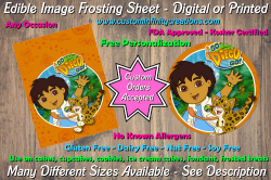 Diego Dora the Explorer Edible Image Frosting Sheet #21 Cake Cupcake Topper