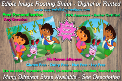 Dora the Explorer Diego Edible Image Frosting Sheet #8 Cake Cupcake Topper
