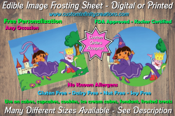 Dora the Explorer Edible Image Frosting Sheet #4 Cake Cupcake Topper