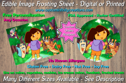 Dora the Explorer Edible Image Frosting Sheet #11 Cake Cupcake Topper