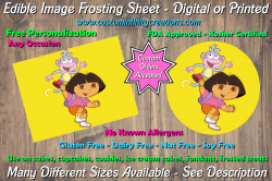 Dora the Explorer Edible Image Frosting Sheet #19 Cake Cupcake Topper
