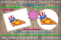 Garfield Edible Image Frosting Sheet #55 Cake Cupcake Topper