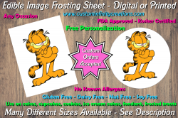 Garfield Edible Image Frosting Sheet #76 Cake Cupcake Topper
