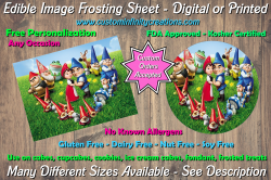 Gnomeo and Juliet Edible Image Frosting Sheet #4 Cake Cupcake Topper