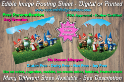Gnomeo and Juliet Edible Image Frosting Sheet #6 Cake Cupcake Topper