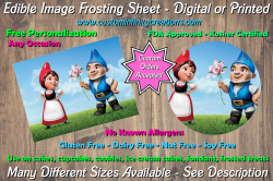 Gnomeo and Juliet Edible Image Frosting Sheet #7 Cake Cupcake Topper