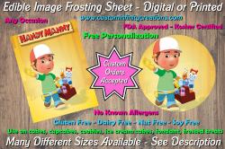 Handy Manny Edible Image Frosting Sheet #13 Cake Cupcake Topper