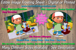 Handy Manny Edible Image Frosting Sheet #7 Cake Cupcake Topper