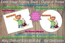 Handy Manny Edible Image Frosting Sheet #9 Cake Cupcake Topper