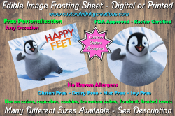 Happy Feet Edible Image Frosting Sheet #2 Cake Cupcake Topper
