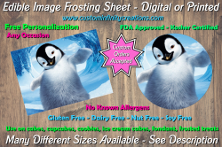 Happy Feet Edible Image Frosting Sheet #18 Cake Cupcake Topper