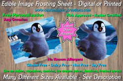 Happy Feet Edible Image Frosting Sheet #25 Cake Cupcake Topper