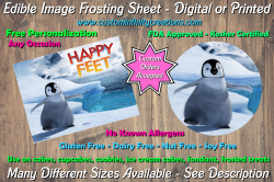 Happy Feet Edible Image Frosting Sheet #8 Cake Cupcake Topper