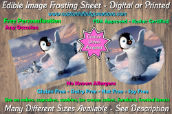 Happy Feet Edible Image Frosting Sheet #13 Cake Cupcake Topper