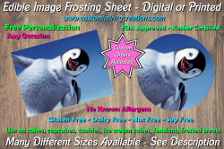Happy Feet Edible Image Frosting Sheet #14 Cake Cupcake Topper