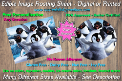 Happy Feet Edible Image Frosting Sheet #15 Cake Cupcake Topper