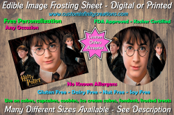 Harry Potter Edible Image Frosting Sheet #33 Cake Cupcake Topper