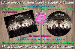 Harry Potter Edible Image Frosting Sheet #32 Cake Cupcake Topper