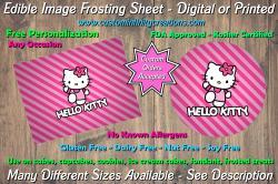 Hello Kitty Edible Image Frosting Sheet #43 Cake Cupcake Topper