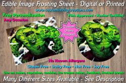 Hulk Marvel Superhero Edible Image Frosting Sheet #18 Cake Cupcake Topper