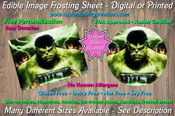 Hulk Marvel Superhero Edible Image Frosting Sheet #19 Cake Cupcake Topper