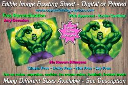 Hulk Marvel Superhero Edible Image Frosting Sheet #20 Cake Cupcake Topper