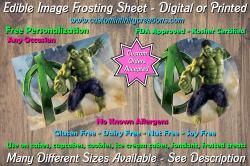Hulk Marvel Superhero Edible Image Frosting Sheet #24 Cake Cupcake Topper