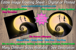 Nightmare Before Christmas Edible Image Frosting Sheet #9 Cake Cupcake Topper