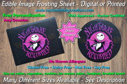 Nightmare Before Christmas Edible Image Frosting Sheet #24 Cake Cupcake Topper