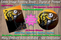 Nightmare Before Christmas Edible Image Frosting Sheet #14 Cake Cupcake Topper