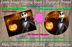 Nightmare Before Christmas Edible Image Frosting Sheet #10 Cake Cupcake Topper