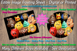The Emoji Movie Edible Image Frosting Sheet #26 Cake Cupcake Topper