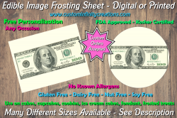 100 Dollar Bill Money Edible Image Frosting Sheet #1 Cake Cupcake Cookie Topper