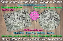 100 Dollar Bill Money Edible Image Frosting Sheet #2 Cake Cupcake Cookie Topper