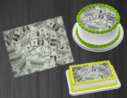 100 Dollar Bill Money Edible Image Frosting Sheet #2 Cake Cupcake Cookie Topper