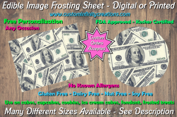 100 Dollar Bill Money Edible Image Frosting Sheet #3 Cake Cupcake Cookie Topper