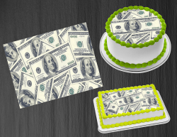100 Dollar Bill Money Edible Image Frosting Sheet #3 Cake Cupcake Cookie Topper